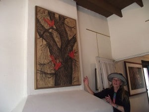 Nancy Valentine with Mom's Painting