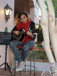 Elena Vega performing at The Goods, Tubac AZ