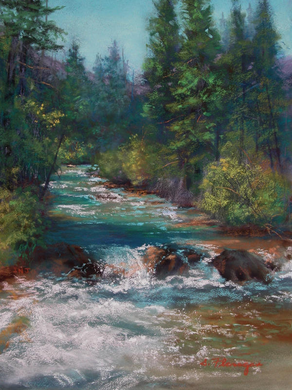 Flowing From The Tetons - Susan Flanagan
