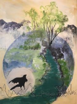 Carolyn Wayland - River Bird - Acrylic
