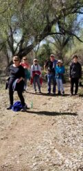 Hikers on the Santa Cruz River 2019